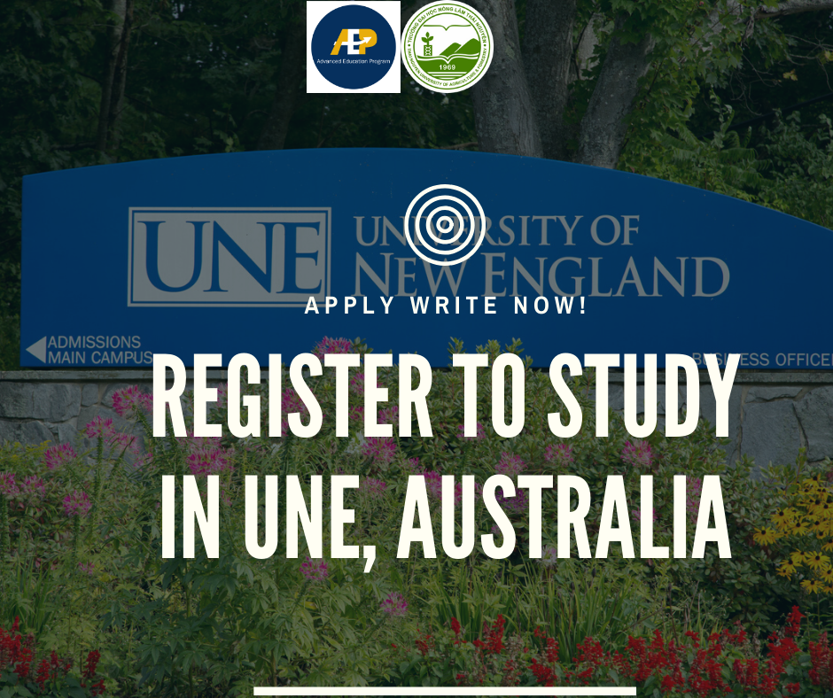 Register to study in University of New England, Australia for AEPers