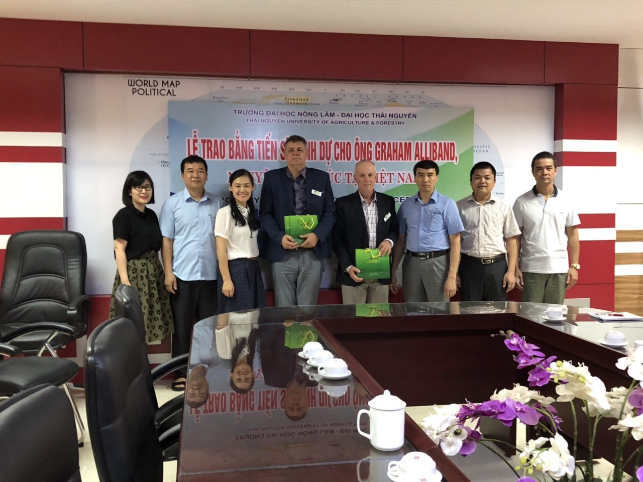 University of New England and TUAF's meeting about the Agricultural Economics training program
